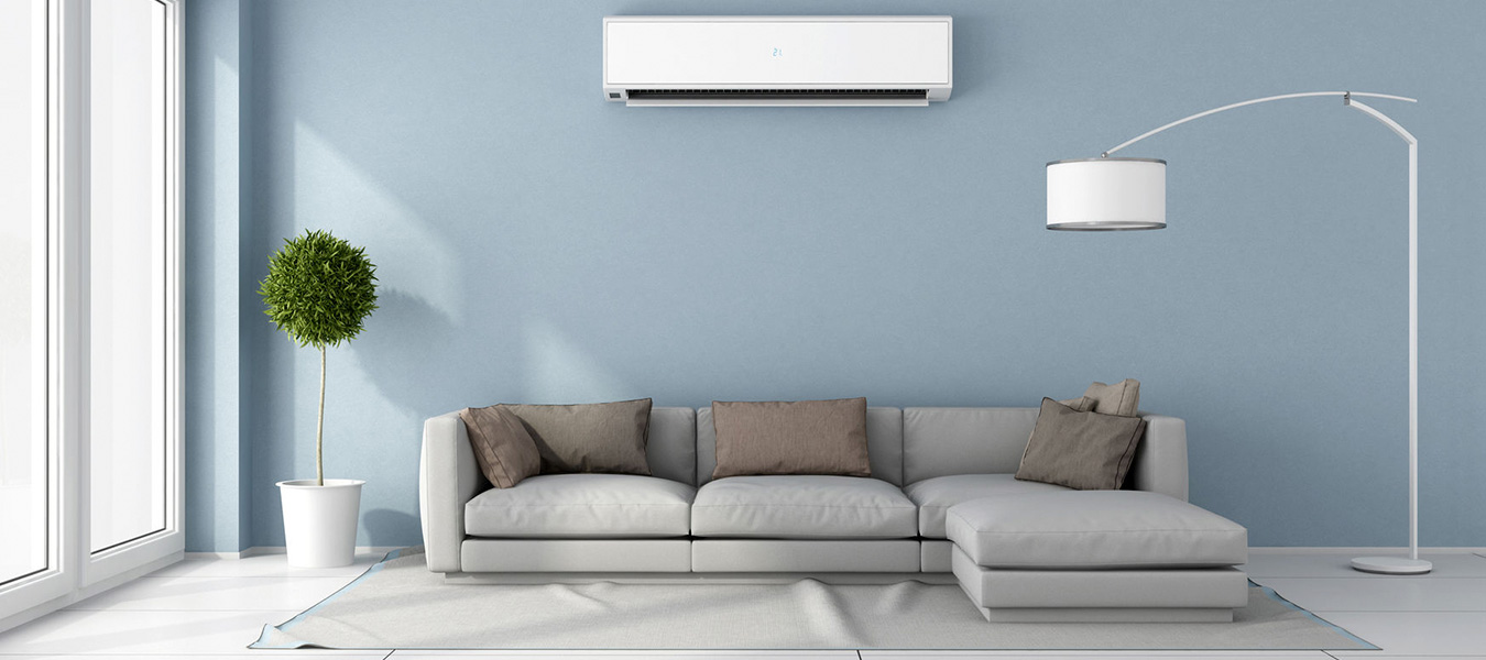 ductless ac unit in a home
